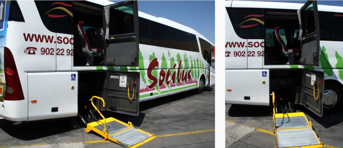 Socibus coaches count with facilities for people with reduced mobility